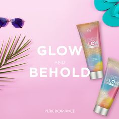 No sun required! Get that gorgeous head-to-toe glow and beautiful bronze with Pure Romance's tropical sunless tanner. Shop Coco Glow Medium -Dark now! Pure Romance Consultant, Tanning Bed, Host A Party, Beauty Care, Free Gifts, Health And Beauty, Finding Yourself, Glow, Pure Products