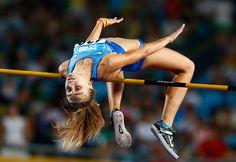 Athlétisme l'Ukrainienne Yuliya Levchenko, médaille d'or du saut en hauteur dames   Photo Olympique