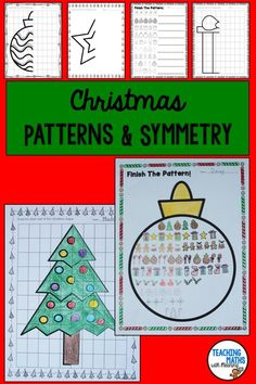 A go to Christmas Activity to keep your class engaged during the festive season. Christmas Symmetry and Pattern Activities for 2nd, 3rd and 4th Grade.
