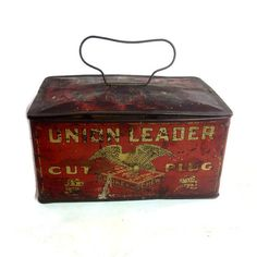 Union Leader Cut Plug Tobacco Tin Vintage by Eagleseyefinds