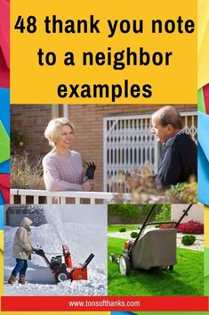 A good neighbor is a blessing. This post will help you write a thank-you note to your neighbor. Examples for food, snow or lawn, help, new baby, etc. Best Thank You Notes, Thank You Note Wording, Thank You Letter, Thank You Gifts, Neighbor Notes, Good Neighbor, Thanks Words, Email Subject Lines, Friendly Letter