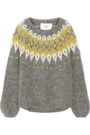 DAY Birger et Mikkelsen Embellished mohair-blend sweater Fair Isles b818594a34