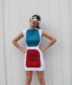 awesome 3D glasses costume!