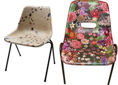 Decoupage Furniture - I wish we could do this to our school chairs! Chair Makeover, Furniture Makeover, Diy Furniture, Furniture Stores, Modern Furniture, Painted Chairs, Painted Furniture, Repurposed Furniture, Vintage Furniture