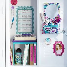 Locker Ideas add your own personality to your school space. simply mix and
