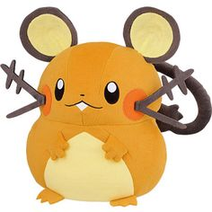 "Pokemon XY 13"" Huge Stuffed Plush Doll Banpresto - Dedenne http://www.amazon.com/s/ref=nb_sb_noss?url=me%3DA67LCAUJKHND&field-keywords=4983164486810"
