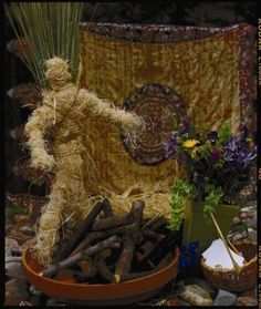 Summer Solstice ideas: wicker man and more  nice example of low-key but still symbolic celebration