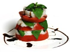 Tomato and mozzarella and basil.