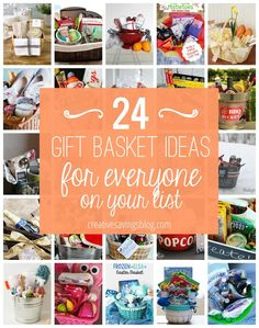 These DIY gift baskets ideas make the perfect gifting option for any budget, and are great to have on hand for family, friends, neighbors, AND kids! Use the suggestions in this post to start, or create your own filler items for a unique theme.