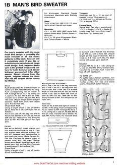 Bird intarsia sweater pattern