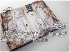 100% Recycled Junk Journal Page Tutorial on BUDGET #1 ♡ Maremi's Small Art ♡ - YouTube