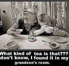 Grandma one day.