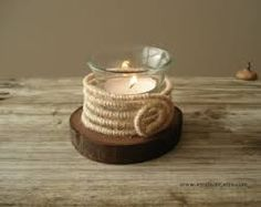 Rustic Wood Candle Holders - Buscar con Google