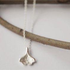 Silver leaf necklace, 925 sterling silver necklace