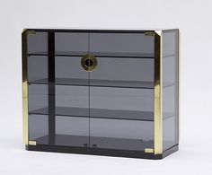 Smoked Glass Stereo Cabinet by Mario Sabot 4