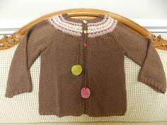 Molly's fair isle yoke cardigan for her granddaughter.