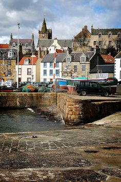 Pittenweem, Fife - Scotland- Fife is the home of Shakespeare's Lady Macduff, whom I'm currently portraying in Macbeth Fife Scotland, England And Scotland, Scotland Travel, Oh The Places You'll Go, Places To Visit, Cinque Terre, British Isles, Great Britain, United Kingdom