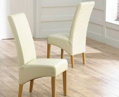 Mark Harris Havana Oak Dining Chair Brown Bycast Leather Seat