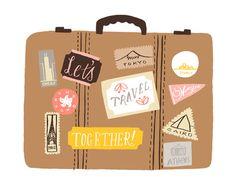 Let's Travel Together! Art Print