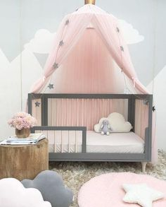 Baby Crib Netting Princess Dome Bed Canopy Childrens Bedding Round Lace Mosquito Net For Newbornbaby Sleeping 3 Colors Decor S3 Mother & Kids Crib Netting