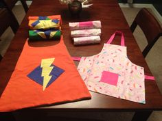 Superhero capes/aprons for my toddles daycare class