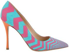 Nicholas Kirkwood Pre-Spring 2014 Zigzag Pointed-Toe Pumps - Buy Online - Designer Pumps