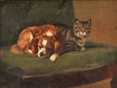 John Henry Dolph (American, 1835-1903) Best Friends. | Auction 2896B | Lot 267 | Sold for $1,599