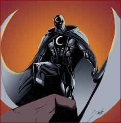 moon knight, a marvel superhero made with pencil and photoshop moon knight Superhero Characters, Comic Book Characters, Comic Book Heroes, Comic Books Art, Comic Art, Book Art, Marvel Dc Comics, Marvel Heroes, Marvel Moon Knight