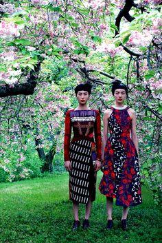 Vogue US Aug 2014 'Mixed Media' - Liu Wen & Fei Fei Sun by Mikael Jansson