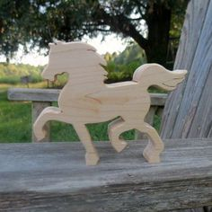 natural organic wooden waldorf toy horse