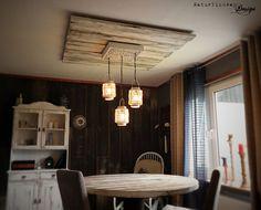 Hängelampen - 3er Laterne, nostalgisch, Baldachin, vintage - ein Designerstück von NATURLICHWEY bei DaWanda