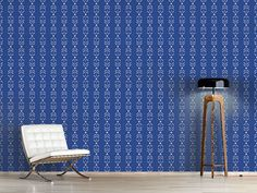 Design #Tapete Blüten- Und Blätter Streifen Cottage, Curtains, Shower, Design, Home Decor, Self Adhesive Wallpaper, Stripes, Wall Papers, Rain Shower Heads