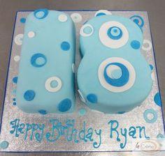 Teen Boy Birthday Cake, Blue Birthday Cakes, Birthday Cake With Photo, Birthday Box, Birthday Crafts, Birthday Nails, Birthday Gifts For Women, 13th Birthday, Birthday Ideas