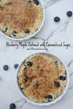 Nothing beats a chilly weekend morning warmed by this amazing Blueberry Maple Oatmeal with Caramelized Sugar! Oatmeal topped with a crispy crust of sugar!