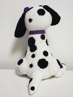 Crochet Pattern Dalmatian Buffy Amigurumi PDF White Dog Black
