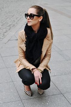 black and camel. Love!