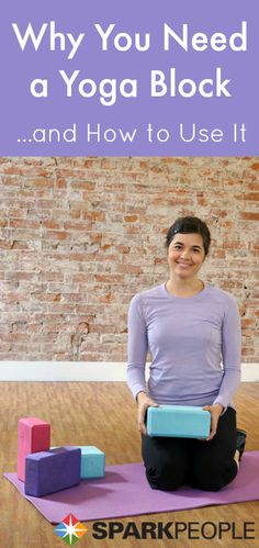 Intro to Yoga Blocks Video via @SparkPeople