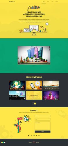 Portfolio website for a Dubai based illustration and animator.  Please visit www.nasibah.co  www.waseemarshad.com