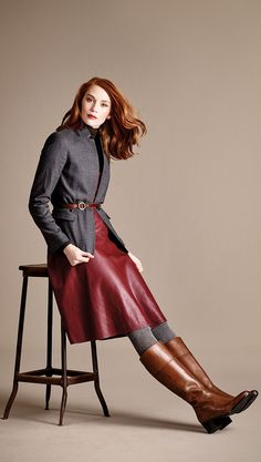 boots + skirt + tights = perfect fall look!