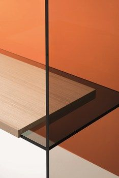Glass and timber shelf diapositive thermo welded glass furniture by ronan erwan bouroullec for glas italia) Bureau Design, Glass Furniture, Furniture Design, Plywood Furniture, Chair Design, Modern Furniture, Art Deco Paris, Muebles Home, Espace Design
