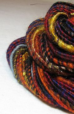 Handspun Art Yarn Corespun Sheeping Beauties by SheepingBeauty, $26.00