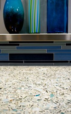 Cool recycled glass counter top