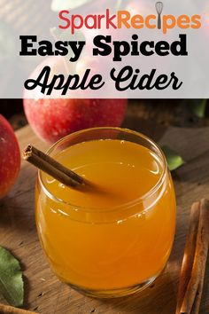 Simply Spiced Apple Cider  Recipe via @SparkPeople