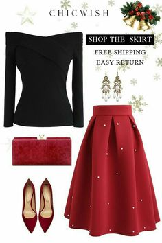 date night outfit Was + zu + Wear + fr + Date + Night + Wann + Es ist + Freezing + Outside + ber + Who Was Wear Party Rock Komplette Outfits, Classy Outfits, Casual Outfits, Classy Clothes, Christmas Party Outfits Casual, Dress Casual, Skirt Outfits, Batman Outfits, Holiday Party Outfit