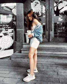 """Quỳnh on Instagram: """"When life brings disorder, adorn it"""" Disorders, Denim Skirt, Outfit Of The Day, Bring It On, Skirts, Life, Outfits, Instagram, Fashion"""