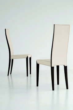 The Lady chair will be the perfect example  for elegancy and style in a modern dining chair. With the high back and angular frame for perfect ergonomic support makes this Lady the ultimate match for your dining table