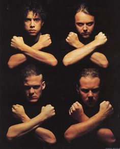 Kirk Hammett, Lars Ulrich, Jason Newsted & James Hetfield of Metallica Jason Newsted, Robert Trujillo, James Hetfield, Heavy Metal Music, Heavy Metal Bands, Thrash Metal, Great Bands, Cool Bands, Ron Mcgovney