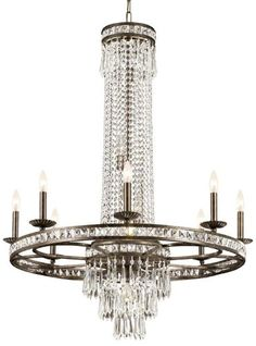 5268-EB-CL-MWP Mercer 8LT Chandelier, English Bronze Finish and Clear Hand Cut Crystal - - Amazon.com
