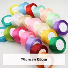 Wholesale Ribbon - Cheap & Bulk Ribbons by Yards, Grosgrain, Satin & Organza Ribbons - BBCrafts