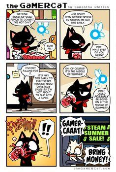 the GaMERCaT :: Summer Strife   Tapastic Comics - image 1